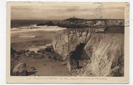 QUIBERON - N° 3593 - PORT BLANC - ROCHE PERCEE ET POINTE DE L' OBSERVATOIRE - CPA VOYAGEE - Quiberon