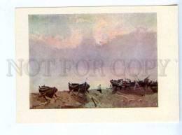 256641 USSR LATVIA Sea Kalnins Evening Old Postcard - Other Illustrators