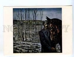 256658 USSR LATVIA Anmanis Start HORSE 1976 Year Postcard - Other Illustrators