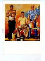 253430 RUSSIA Tugushi Youth Brigade Of Painters Smoking - Other Illustrators