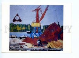 253431 RUSSIA Tugushi Rostov-on-Don Cargo Port Postcard - Other Illustrators
