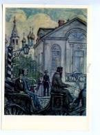 256709 USSR Glazunov Goncharov Breakage 1976 Year Postcard - Other Illustrators