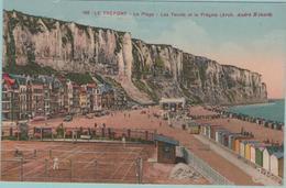 CPA:  LE  TREPORT (Dpt.76):   La Plage  - Les Terrains De Tennis Et La Frégate.  (E 441) - Le Treport