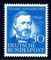 Bund MiNr. 161 Postfrisch/ MNH Tief Geprüft Schlegel (B3322 - Zonder Classificatie