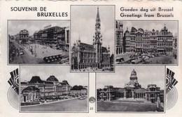 Souvenir De Bruxelles, Goeden Dag Uit Brussel (pk46473) - Panoramische Zichten, Meerdere Zichten