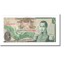 Billet, Colombie, 5 Pesos Oro, 1961-1981, 1980-01-01, KM:406f, NEUF - Colombie