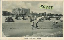 Emilia Romagna-rimini Veduta Grand Hotel E Spiaggia Animatissima Anni 20/30 (vedi Retro) - Rimini