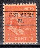 USA Precancel Vorausentwertung Preo, Locals Pennsylvania, West Milton 748 - Vereinigte Staaten