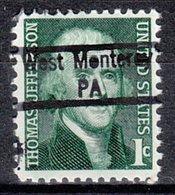 USA Precancel Vorausentwertung Preo, Locals Pennsylvania, West Monterey 843 - Vereinigte Staaten