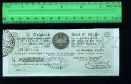 255278 GERMANY FRANKFURT City Lottery Loan Ticket 1854 Year - Lottery Tickets