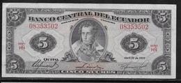 Equateur - 5 Sucres - Pick N°108a - SUP - Ecuador