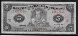 Equateur - 5 Sucres - Pick N°108a - TTB - Equateur