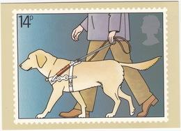 Blind Man And Guide Dog - (14p Stamp) - International Year Of Disabled People - 1981 - (U.K.) - Postzegels (afbeeldingen)