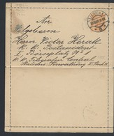 4a.Geschlossener Brief. Die Post Wurde 1900 Weitergegeben. Wien - Lettres & Documents
