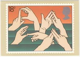Deaf And Dumb Alphabet - (18p Stamp) - International Year Of Disabled People - 1981 - (U.K.) - Postzegels (afbeeldingen)