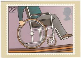 Person In Wheelchair - (22p Stamp) - International Year Of Disabled People - 1981 - (U.K.) - Postzegels (afbeeldingen)