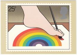 Foot Artist - (25p Stamp) - International Year Of Disabled People - 1981 - (U.K.) - Postzegels (afbeeldingen)