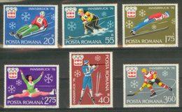 ROMANIA 1976 - Olympic Games In Innsbruck - Mi 3312-7; CV=4 € - Winter 1976: Innsbruck
