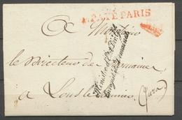 1825 Lettre Franchise Ministre D'Etat Dir. Gal Enregistt Et Domaines P3125 - Marcophilie (Lettres)