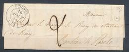 1843 Lettre CAD T14 GUIGNES SEINE&MARNE(73) SUP. P3145 - 1801-1848: Voorlopers XIX
