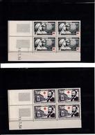ALGERIE    BLOCS DE 4  N°316/317 NEUFS  XX CROIX ROUGE   15.7.1954 - Nuevos