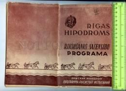 255646 USSR LATVIA Riga Hippodrome 1959 Year Program #73(1531) - Books, Magazines, Comics