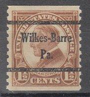 USA Precancel Vorausentwertung Preo, Bureau Pennsylvania, Wilkes-Barre 598-45 - Vereinigte Staaten