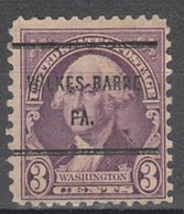 USA Precancel Vorausentwertung Preo, Bureau Pennsylvania, Wilkes-Barre 720-61 - Vereinigte Staaten