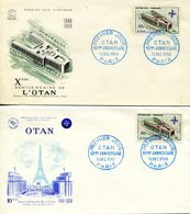 FRANCE 2 FDC 1959 - 13/12 /1959 10é ANNIVERSAIRE OTAN - FDC