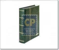 "CLASSIFICATORE ""LUXUS"" LINDNER FONDO NERO 60 FACCIATE (30 Pagine) COLORE VERDE - ART. 1169S-G - Albums Met Klemmetjes"