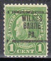 USA Precancel Vorausentwertung Preo, Locals Pennsylvania, Wilkes-Barre 632-207 - Vereinigte Staaten