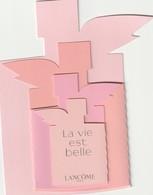 LANCÔME  Superbe Carte De Fête Des Mères*  La Vie Est Belle * - Cartes Parfumées