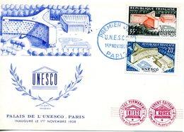 FRANCE 1958 - CARTE MAXIMUM PALAIS DE L'UNESCO - 1950-59