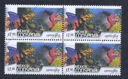Mexique, Yvert 1990, Scott 2264, Bloc De 4, Perf 14, Non Listé, MNH - Mexique