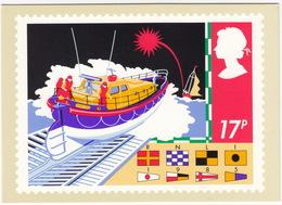 Lifeboat - (17p Stamp) - Safety On Sea - 1985 - (U.K.) - Postzegels (afbeeldingen)