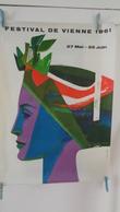 AFFICHE :festival De Vienne 1961,27 Mai -25juin    ,H 84 ,L 58,7 - Affiches