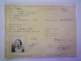 CARTE De CIRCULATION TEMPORAIRE  De Simone  RONCIN  Domiciliée à GUERMANTES   1940   XXXX - Old Paper
