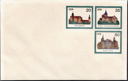 Germany / DDR Mint Postal Stationery Cover - Castles