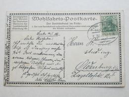 1915 , HUDE - BLEXEN  Z. 361 , Bahnpost,  Klarer Stempel Auf  Karte - Brieven En Documenten