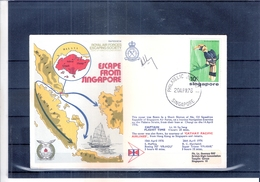 """Singapore - Birds - Cover Flight Of """"Cathay Pacific Airlines"""" From Hong Kong To Singapore (to See) - Singapour (1959-...)"""
