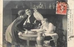 - Thèmes -ref-A795- Arts - Tableaux - Salon 1914 - Peintre Frazez -les Bulles De Savon - Publicite Au Bon Marche - Paris - Peintures & Tableaux