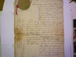 """Colonies Anglaises D'ESSEQUIBO & DEMERARY :  DOC Anglais  Sur L'escale Du SLOOP Français """"La PAIX"""" En Détresse  1822  XX - Old Paper"""