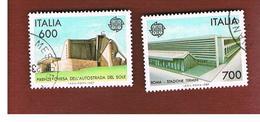 ITALIA REPUBBLICA  - UNIF. 1813.1814  -      1987    EUROPA  -      USATO - 6. 1946-.. República
