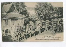 258048 Cambodia PHNOM PENH Elephants Of King Harnessed Walk PC - Cambodia