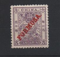 1897 CHINA RODE OPDRUK FORMOSA ONGEBRUIKT MET GOM - Nuovi