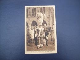 Belgique - Carte Postale Ancienne Du Carnaval De Binche - Un Gille (1930) - Binche
