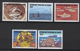 """Congo YT 738 à 742 """" Année De La Pêche """" 1984 Neuf** - Congo - Brazzaville"""