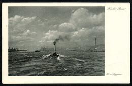 B4169 - H. Von Seggern - Künstlerkarte - Frische Brise - Trautmann & Von Seggern Hamburg - Dampfer - Künstlerkarten