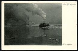B4170 - H. Von Seggern - Künstlerkarte - Der Tag Beginnt - Trautmann & Von Seggern Hamburg - Dampfer - Künstlerkarten