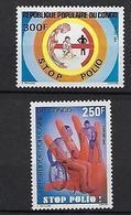 """Congo YT 743 & 744 """" Contre La Polio """" 1984 Neuf** - Congo - Brazzaville"""